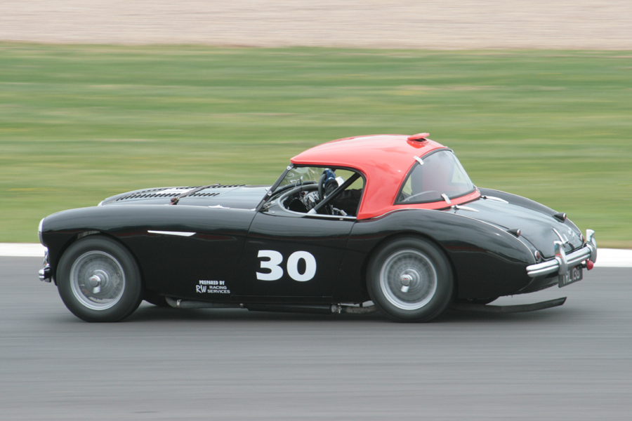 Emma Sevier at speed in the Austin Healey 100 - Photo - John Turner