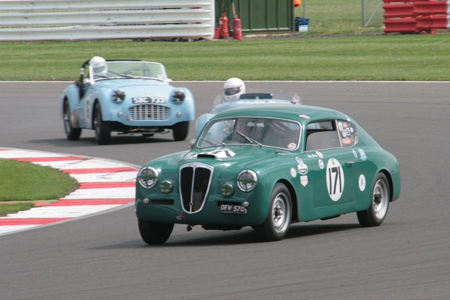 Fast starting Chris Gawne in his Lancia Aurelia B20GT