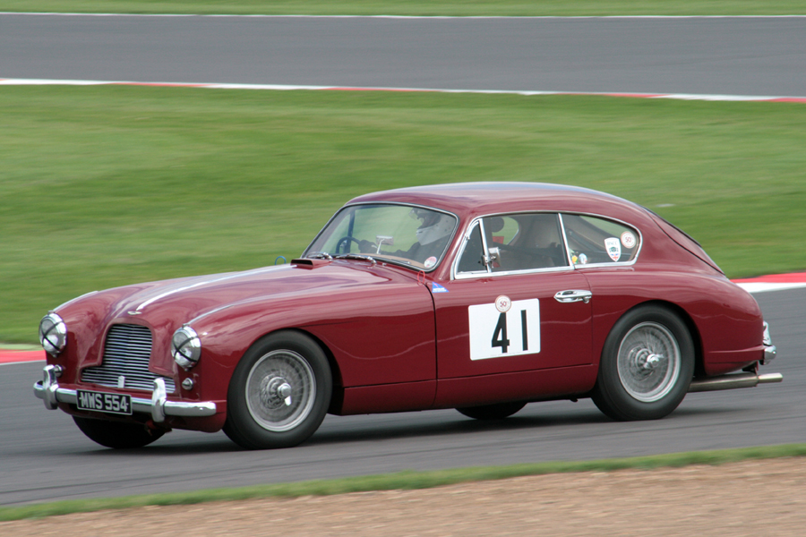 Jim Campbell in his immaculate Aston Martin DB2/4