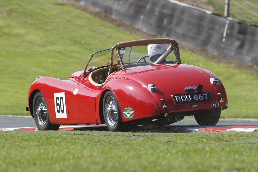 Tailpiece, literally!  - Geoff Ottley in his Jaguar XK120 on his way to 5th, having driven it up from Dorset. Magnificent effort!  Photo - Mick Walker