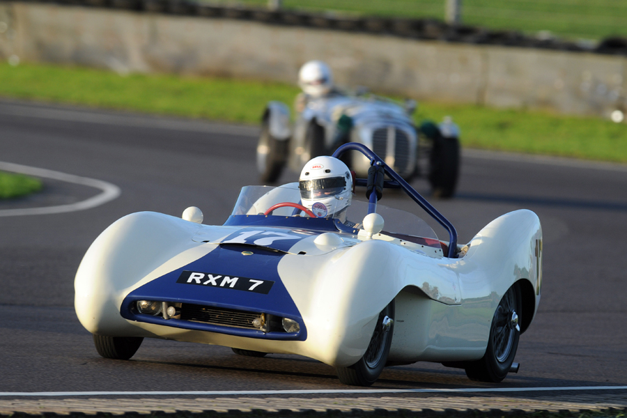 Front row FLIER, Brian Arculus in the Lotus IX