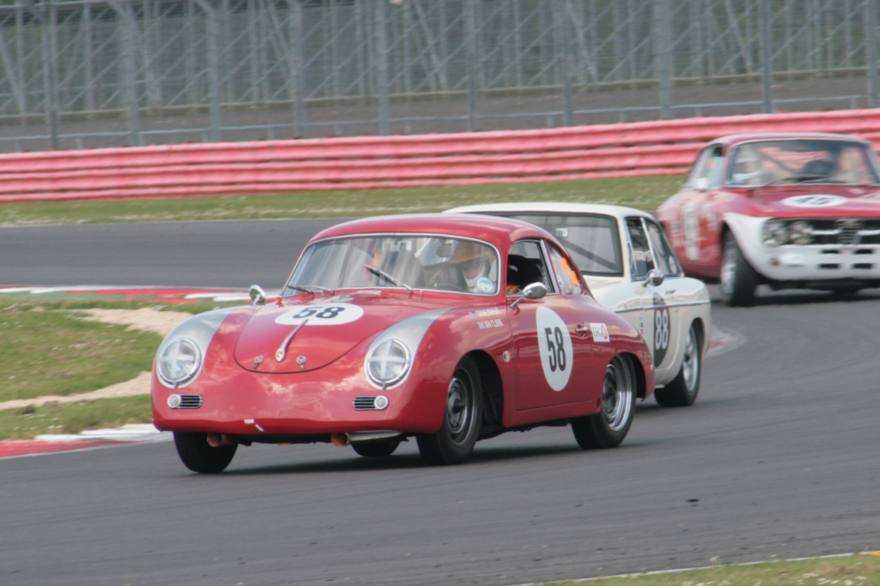 FISCAR First Timer - Steve wright in the lovely little Porsche 356A, sharing with Ian Clark.