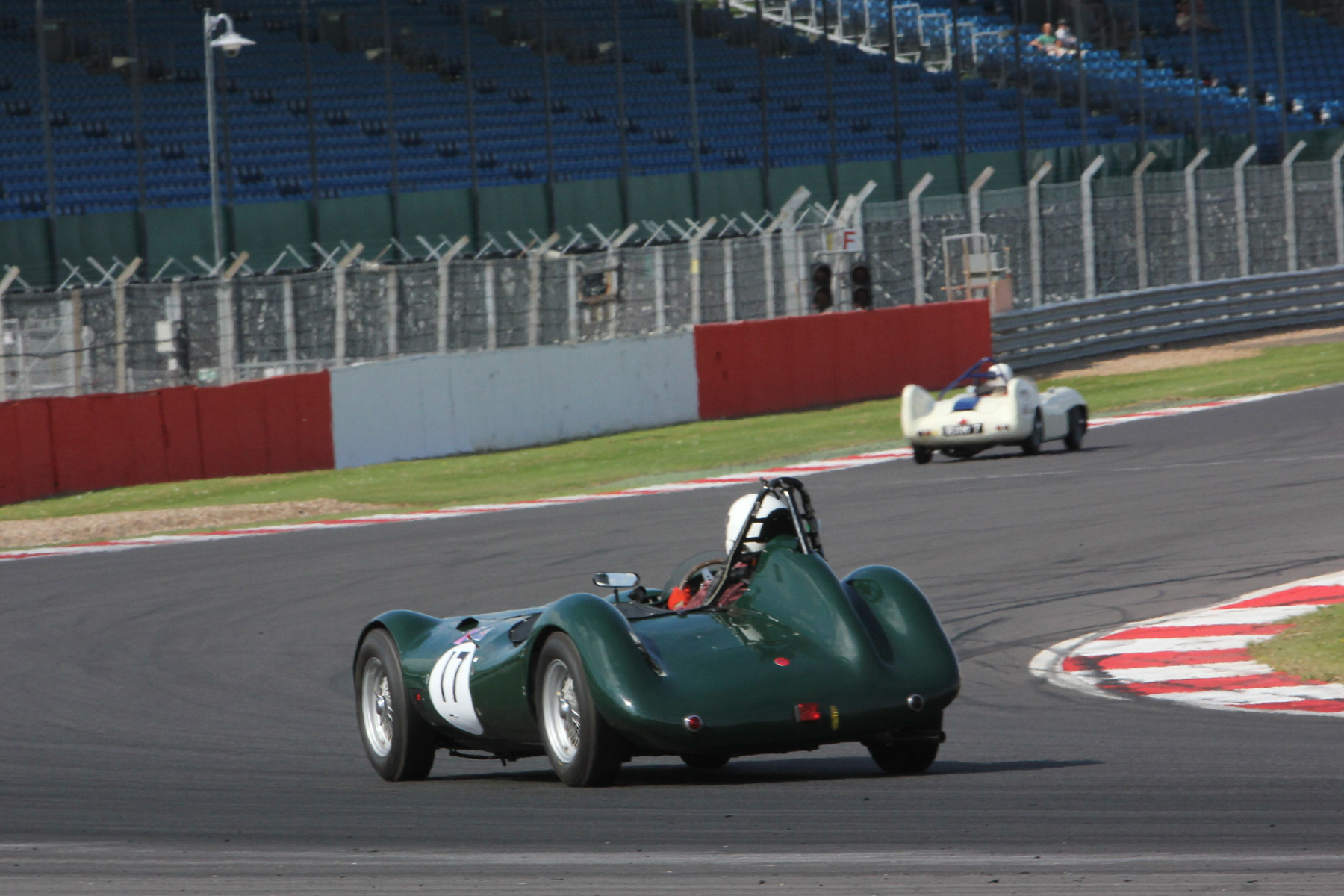 This was about as close as Alex got to Brian but he vowed to make Brian's race much more difficult at Donington in August when we hope to see Rod Begbie give both of them a run for their money in his Elva Mk4.         Photo - Pat Arculus