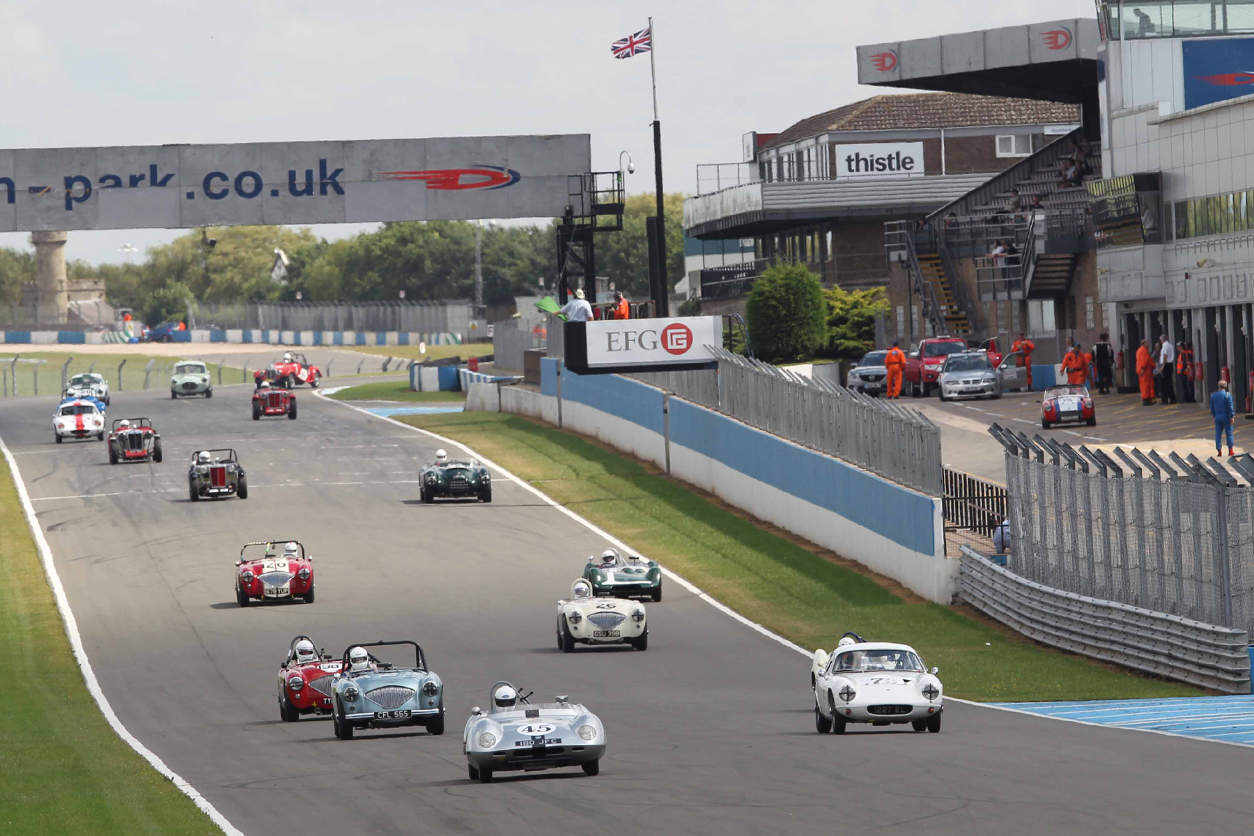 Grid emerges in correct order!                     - Photo - Mick Walker