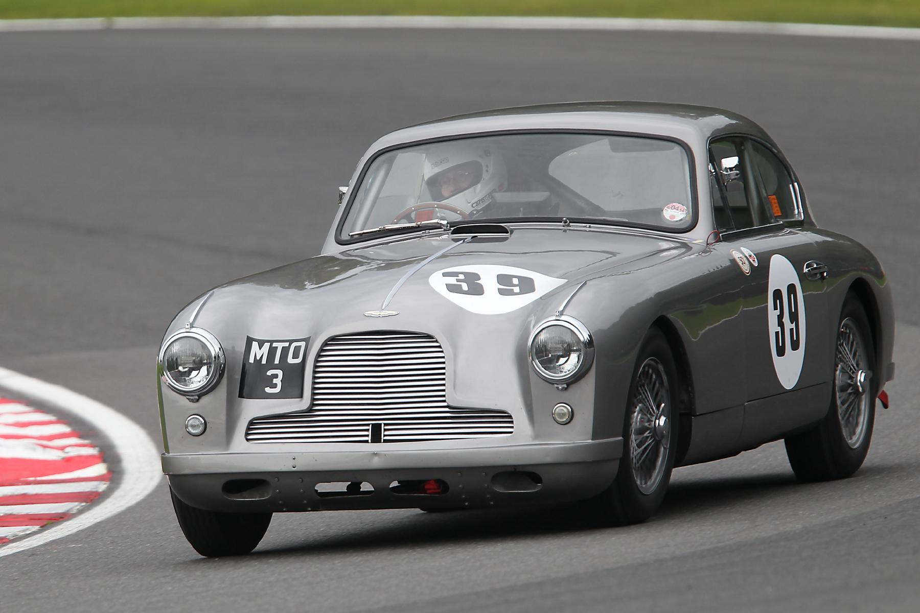 A DB2/4 returns to the ranks. Tim Stamper in Richard Bell's lovely Aston Martin.      Photo - Mick Walker