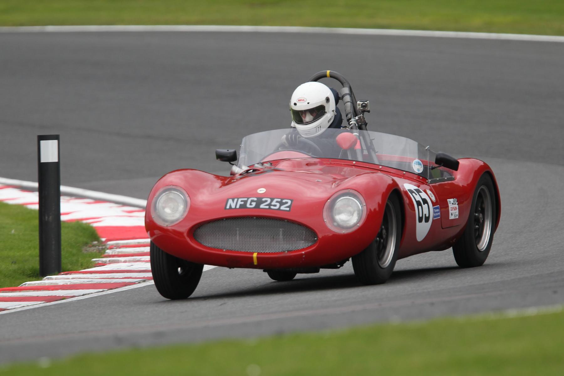 Stephen Cooper in his FISCAR FLIER, the Cooper MG.                           Photo - Mick Walker