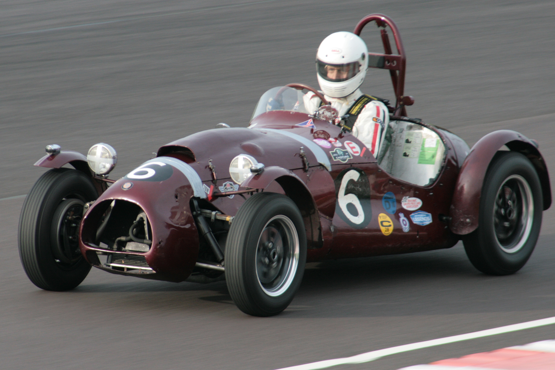 In a tribute to Tony Crook, who died earlier this year, John Ure drove this Cooper Bristol T24/25, a specially invited car, and one Crook himself had owned and driven, to 3rd overall and posted fastest race lap. Photo - John Turner