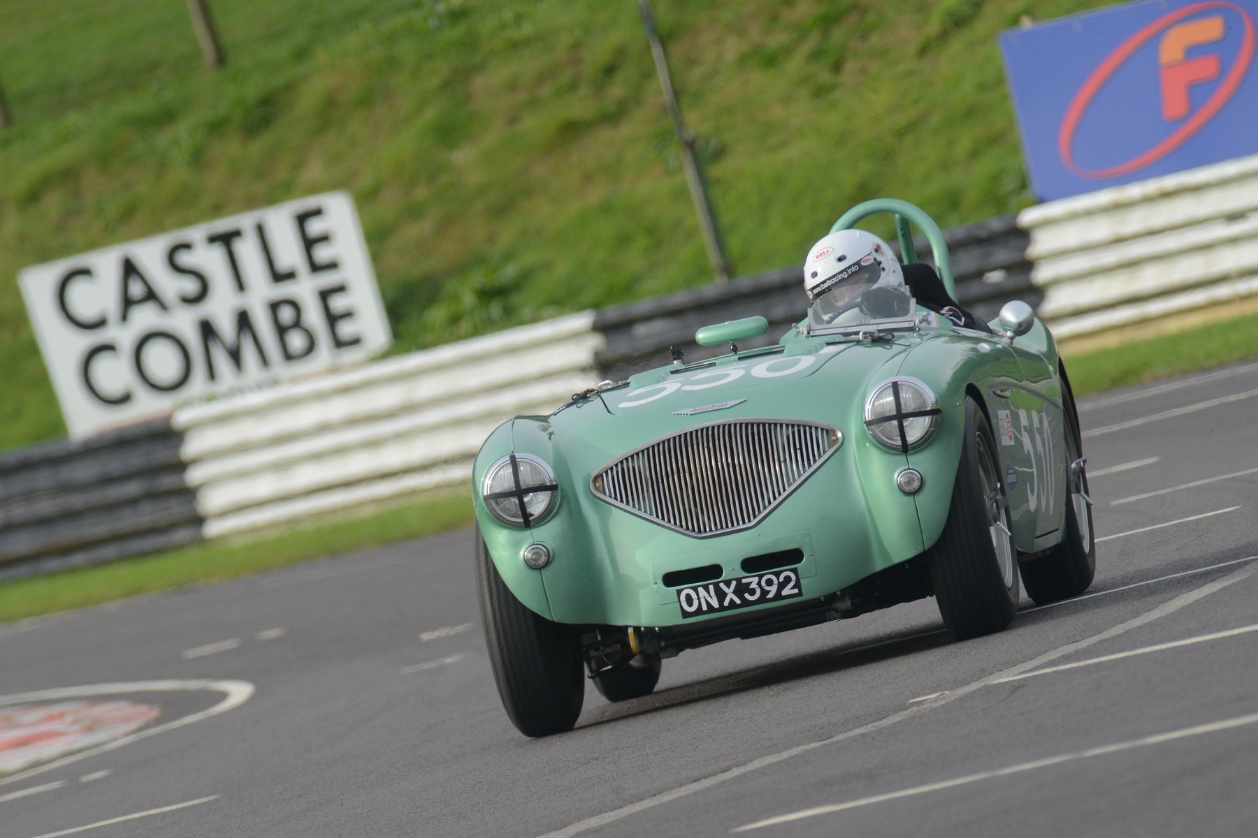 Martyn Corfield qualifying his special Austin Healey 100/4                                         Photo - Ollie Read