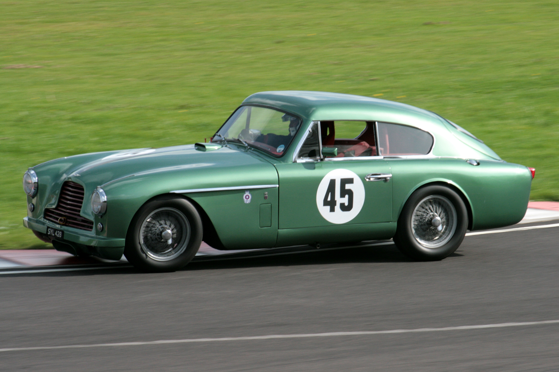 Richard Walker, first time out in his newly acquired DB2/4 Mk11, acquitted himself well, qualifying 16th. He improved his best qualifying lap time by over 5 seconds during the race and finished a fine 12th.      Photo - John Turner