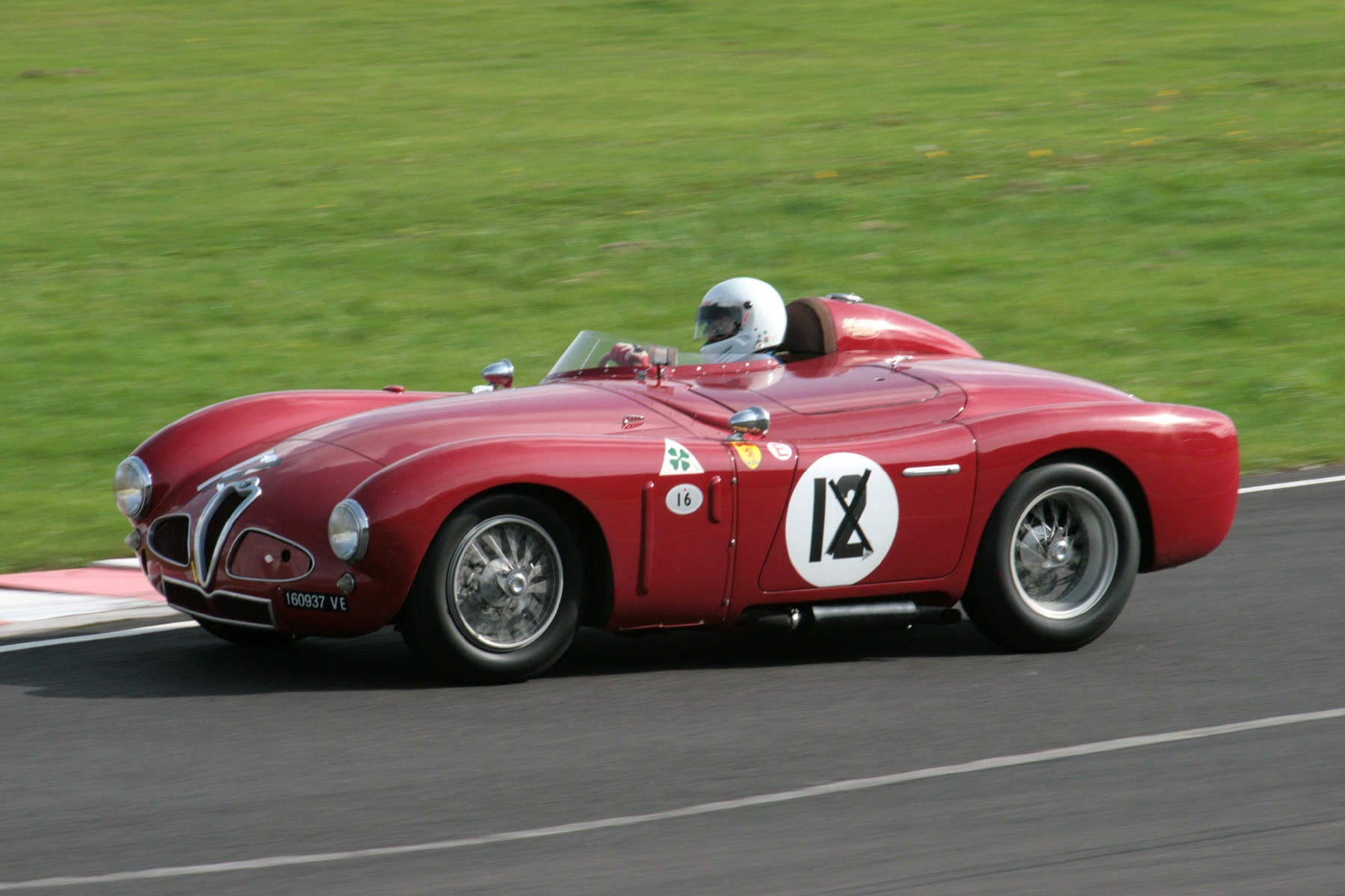 Chris Mann's Alfa Romeo Disco Volante finished 15th and vows that the car will be quicker next year with adjustment to anti rollbar and/or suspension and new tyres and brakes. I can't wait!       - Photo - John Turner