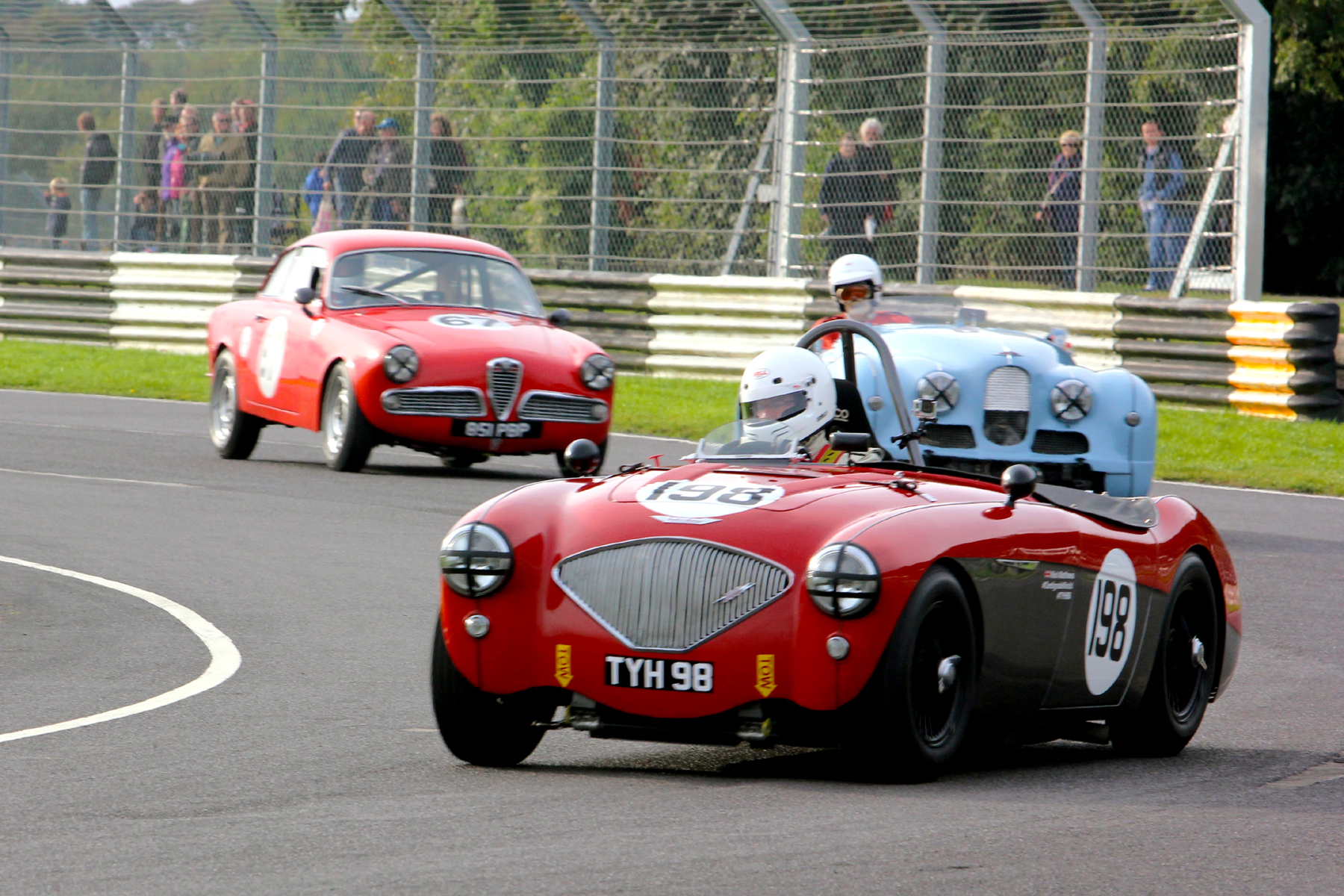 Great Drive from the back to 11th by Nick Matthews in his Austin Healey                             Photo - Pat Arculus