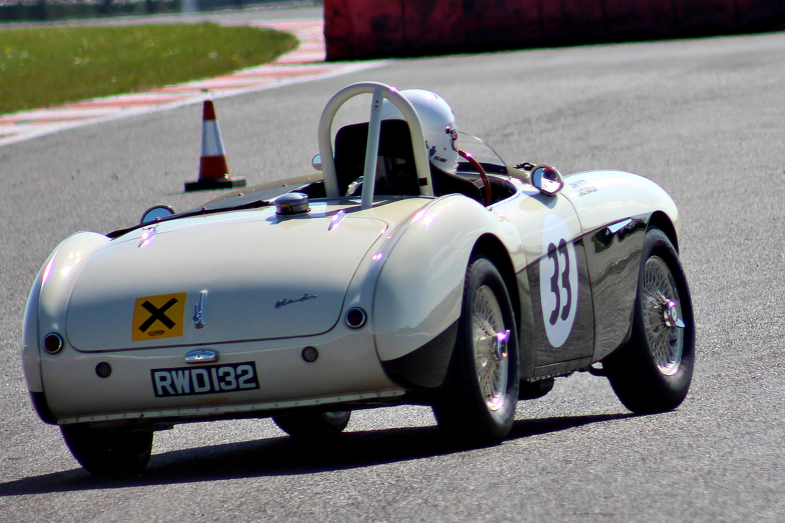 patrick rignell took his lovely austin healey 100s to 13th overall                 photo - bob bull, tripos media