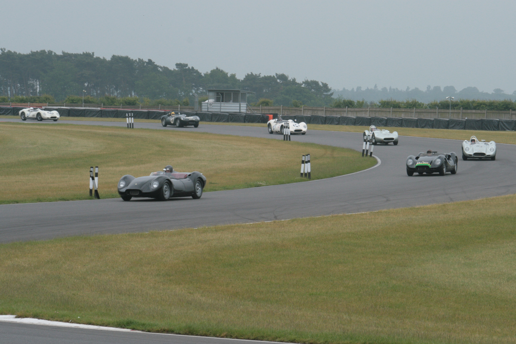 The Lister Demonstration run led by two new Knobblies from the current Lister Car Company  Photo - John Turner