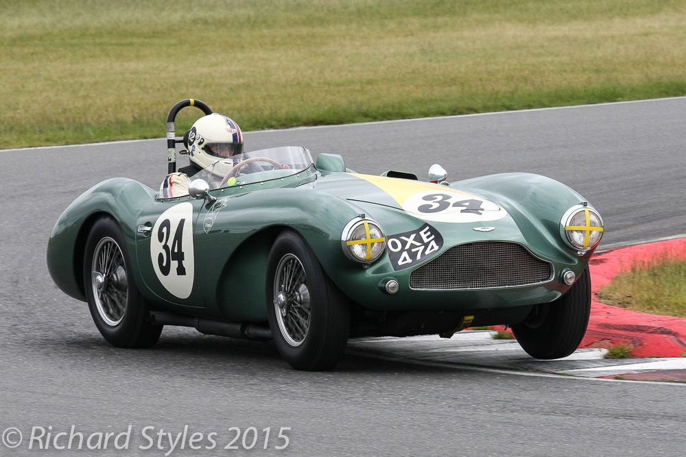 Poleman, Steve Boultbee brooks in his aston Martin DB3S