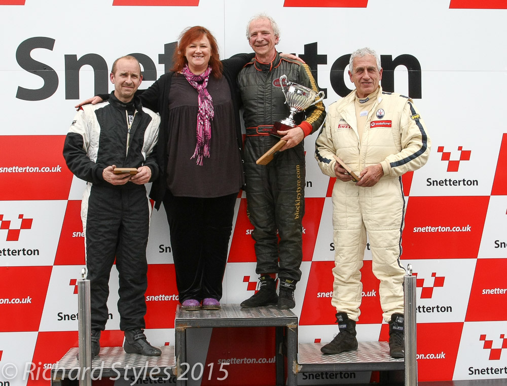 A historic moment. Brian Lister's daughter, Nicky, joins our top 3 on the podium.