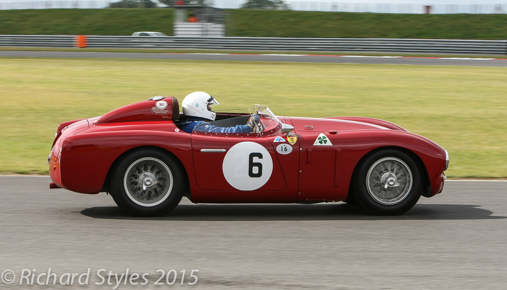 The splendid Alfa Romeo Disco volante and an equally splendid drive from Chris mann which took the car from the back of the grid to 4th.