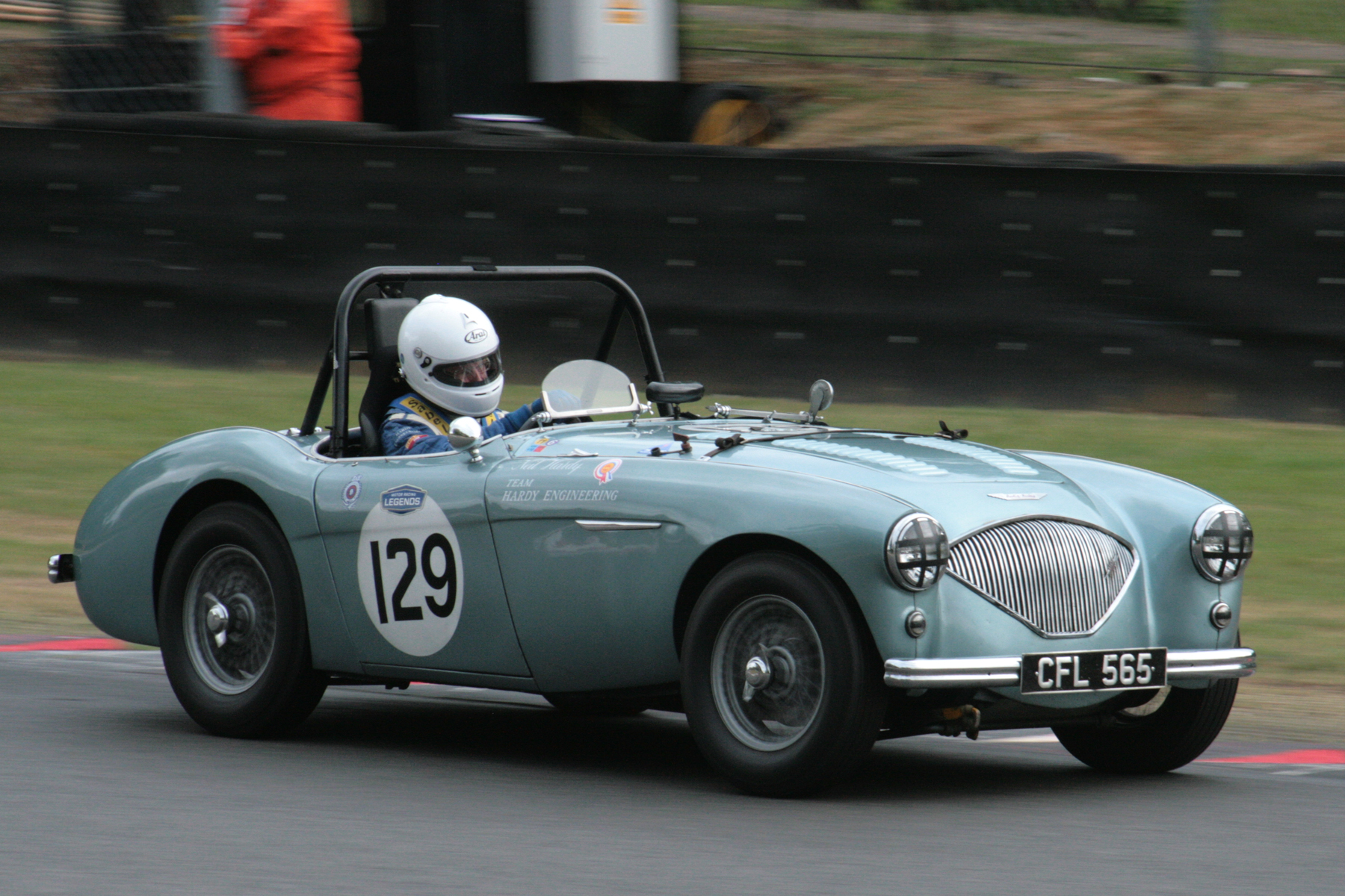 More opposite lock. This time from Neil Hardy in his Austin Healey 100M         Photo - John Turner