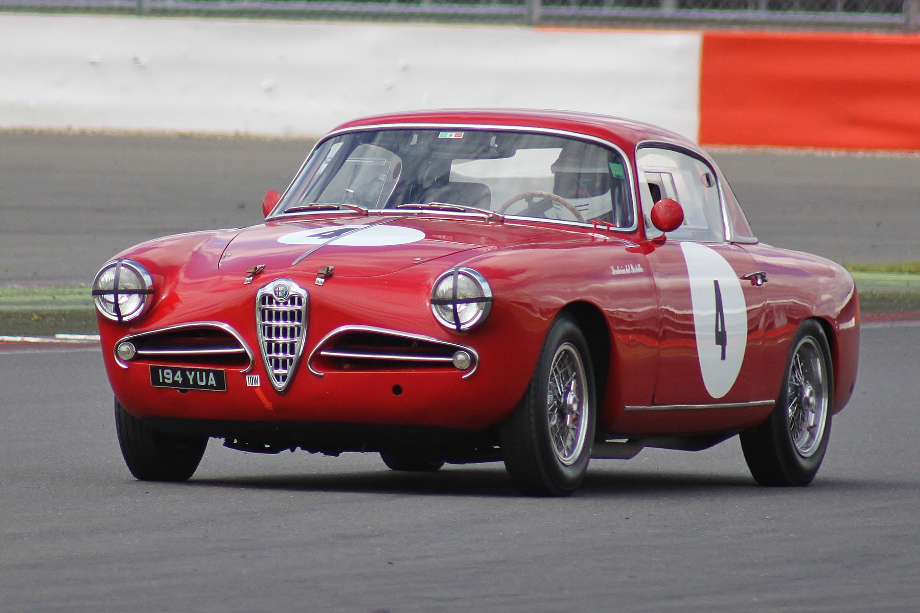 The glorious Alfa Romeo 1900CSS driven by Matthew Holme                                        Photo - Bob Bull, Tripos media