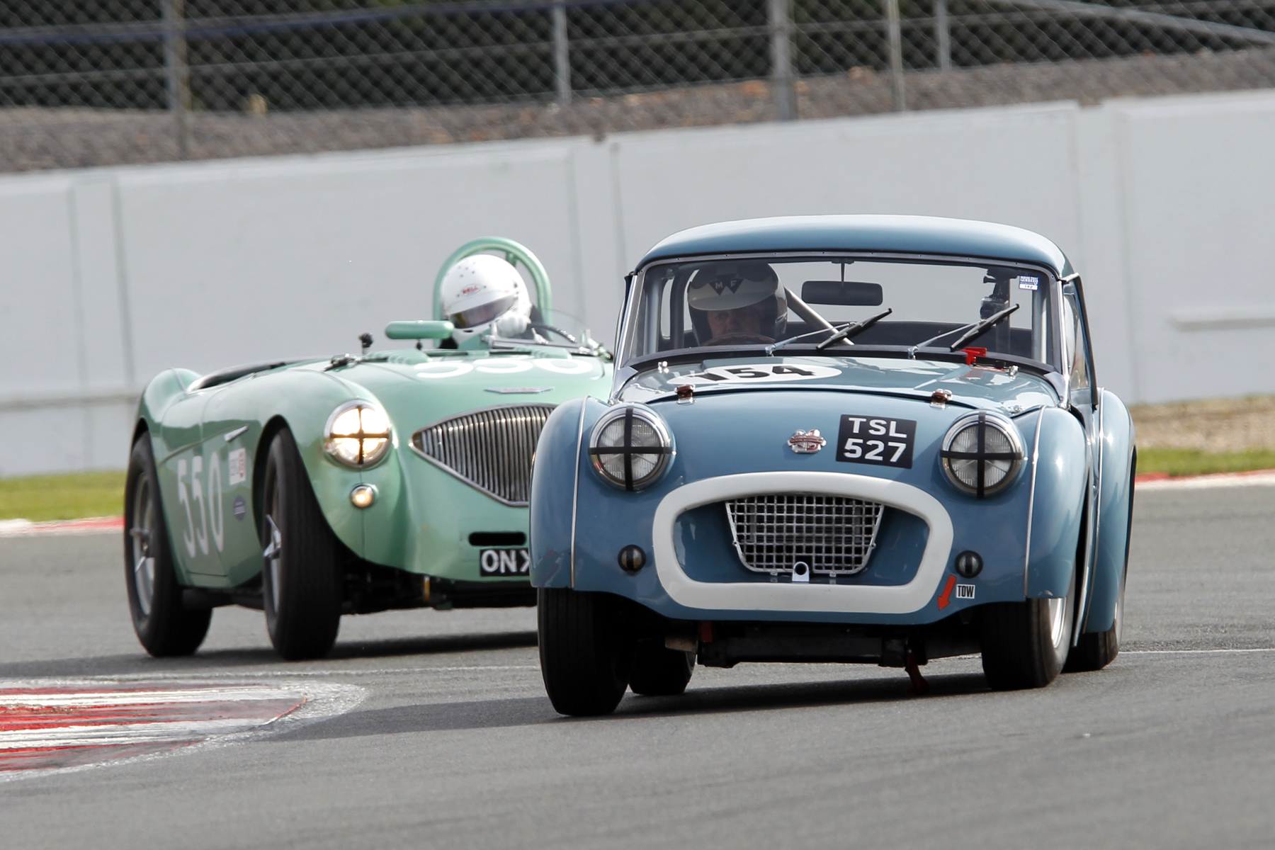 The Ziller/Arif TR2 going great guns but about to be lapped by the leader                    Photo  - Mick Walker