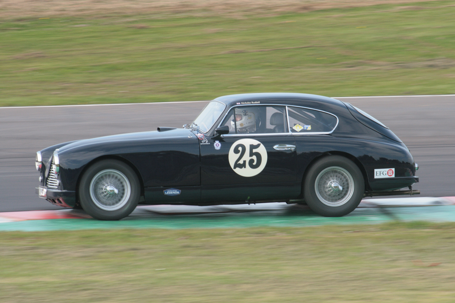 Nick Ruddell's Aston Martin DB2/4 in the Esses  Photo - John Turner