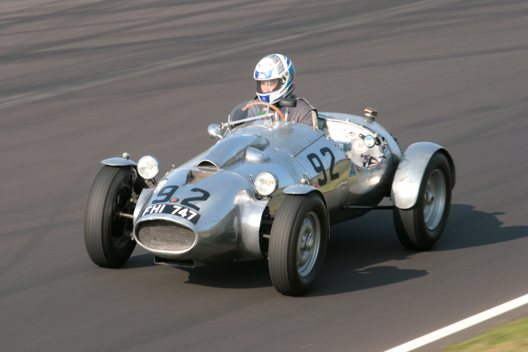 Peter Campbell of Spencer Lane Jones Ltd, our sponsor for this race, owns the unique Wingfield Bristol Special. Here it is seen in the hands of Andrew Mitchell who took over after Peter had completed his stint.                  Photo - JohnTurner