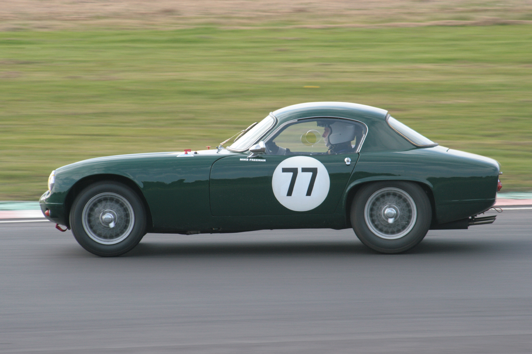 Mike Freeman in his Lotus Elite, a combination that won our Blaster Bates Trophy at Oulton Park.        Photo - JohnTurner