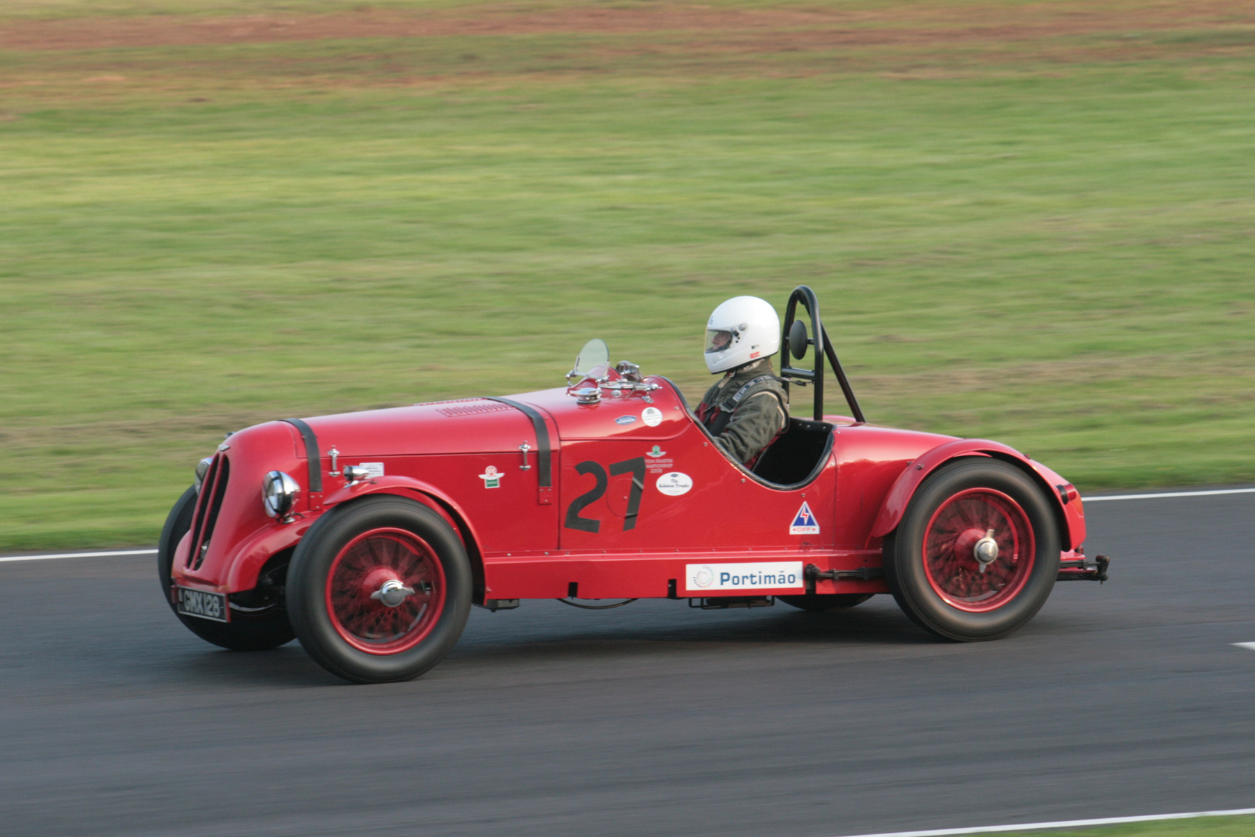Peter Dubsky in his unusually bodied Aston Martin 15/98  Photo -John Turner