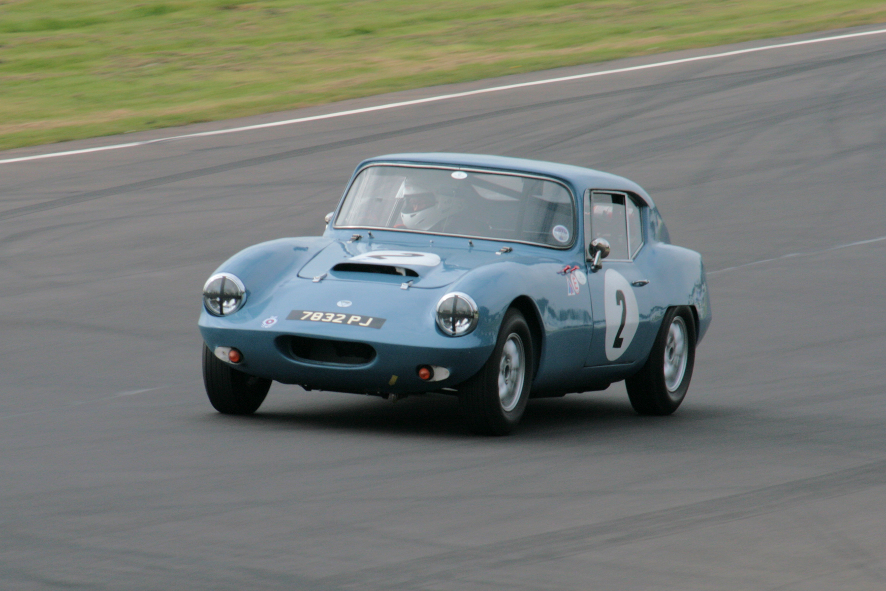 Martin Greaves, in a particular favourite of mine, the Elva Courier Mk III Coupe, a rare car. Martin finished 7th  Photo - John Turner
