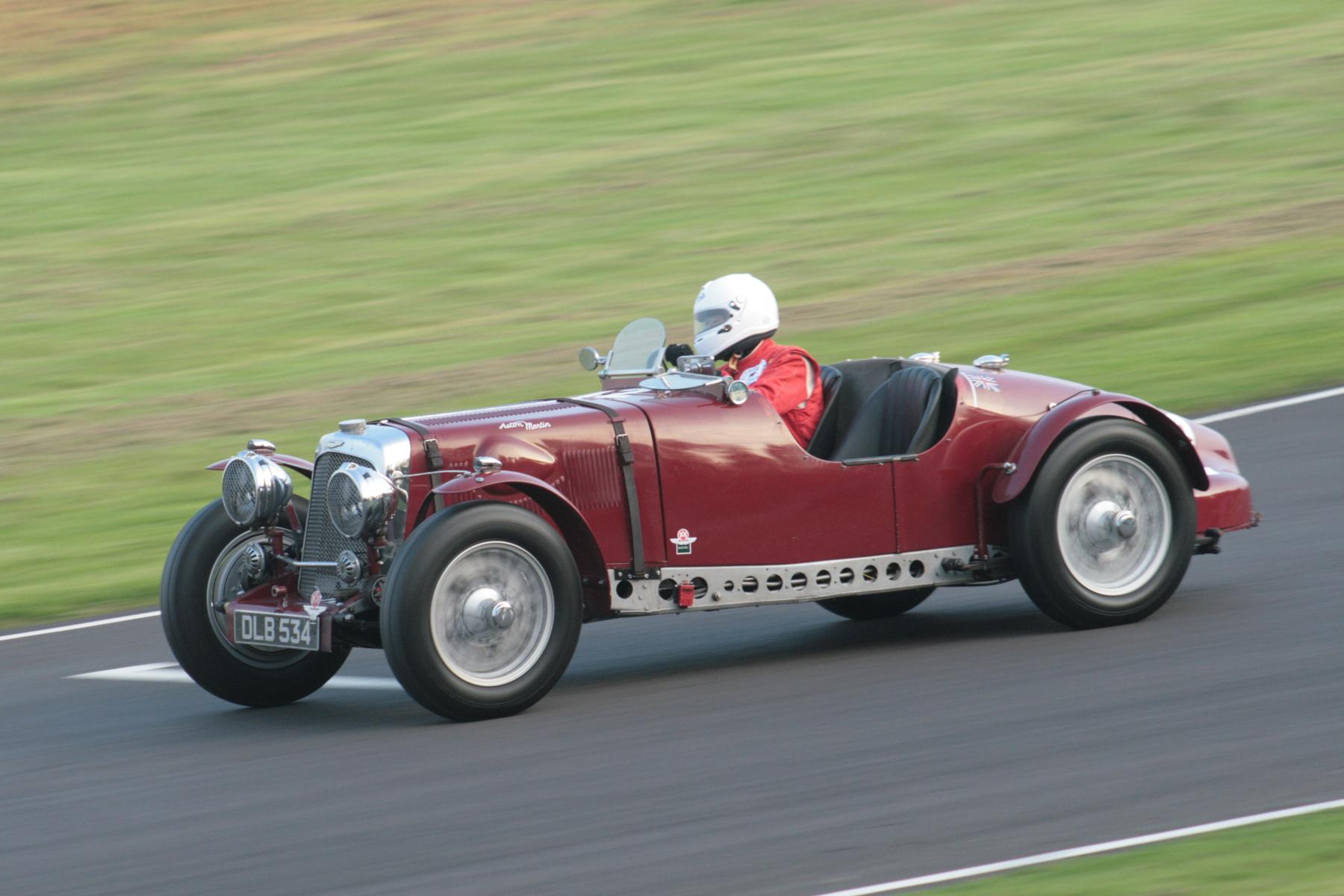 Robert Blakemore in his fabulous Aston Martin Speed Model. Photo - John Turner