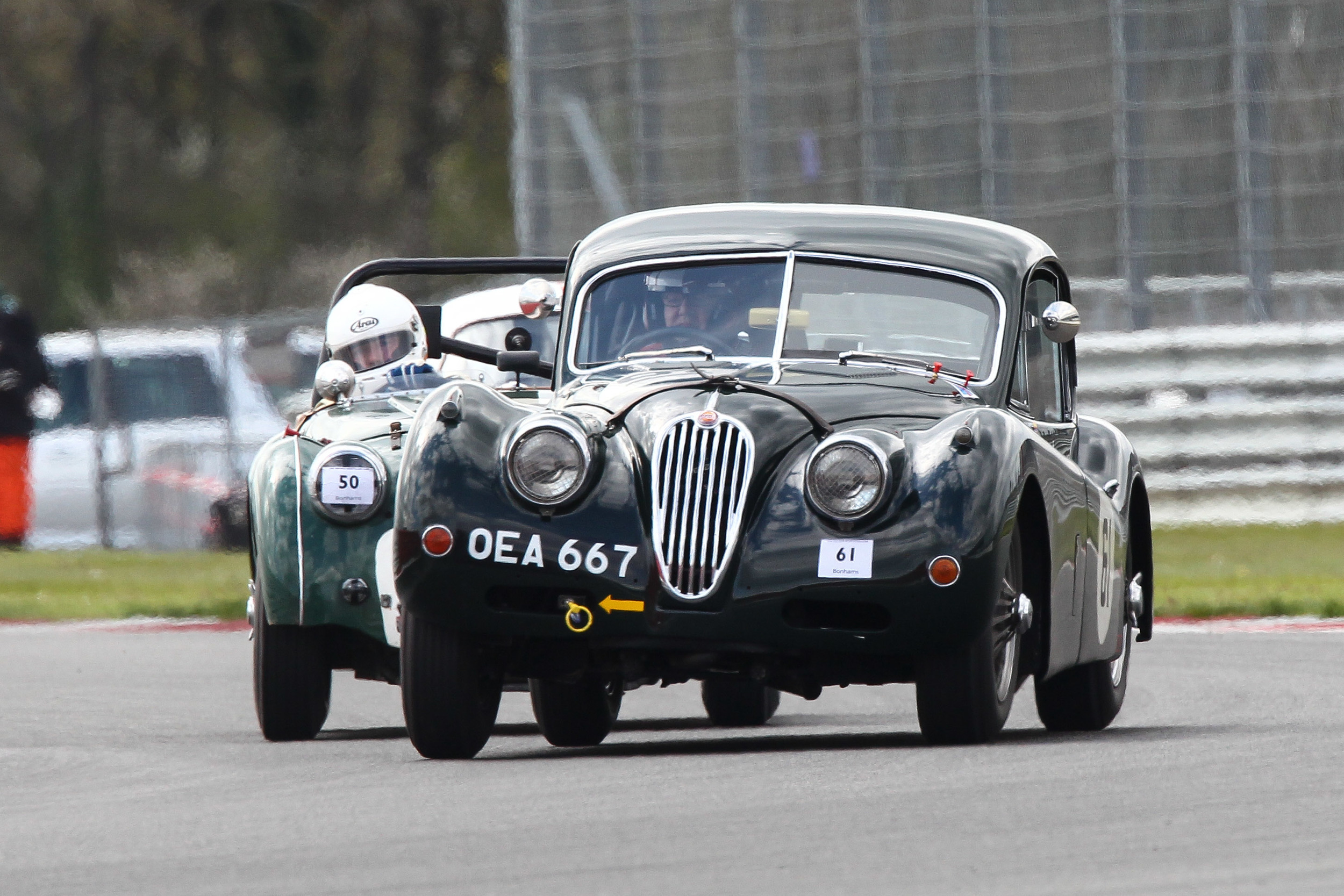 New and welcome addition to FISCAR was the Jaguar XK14oFHC of Carlos Martinez De Campos  Photo - Richard Styles