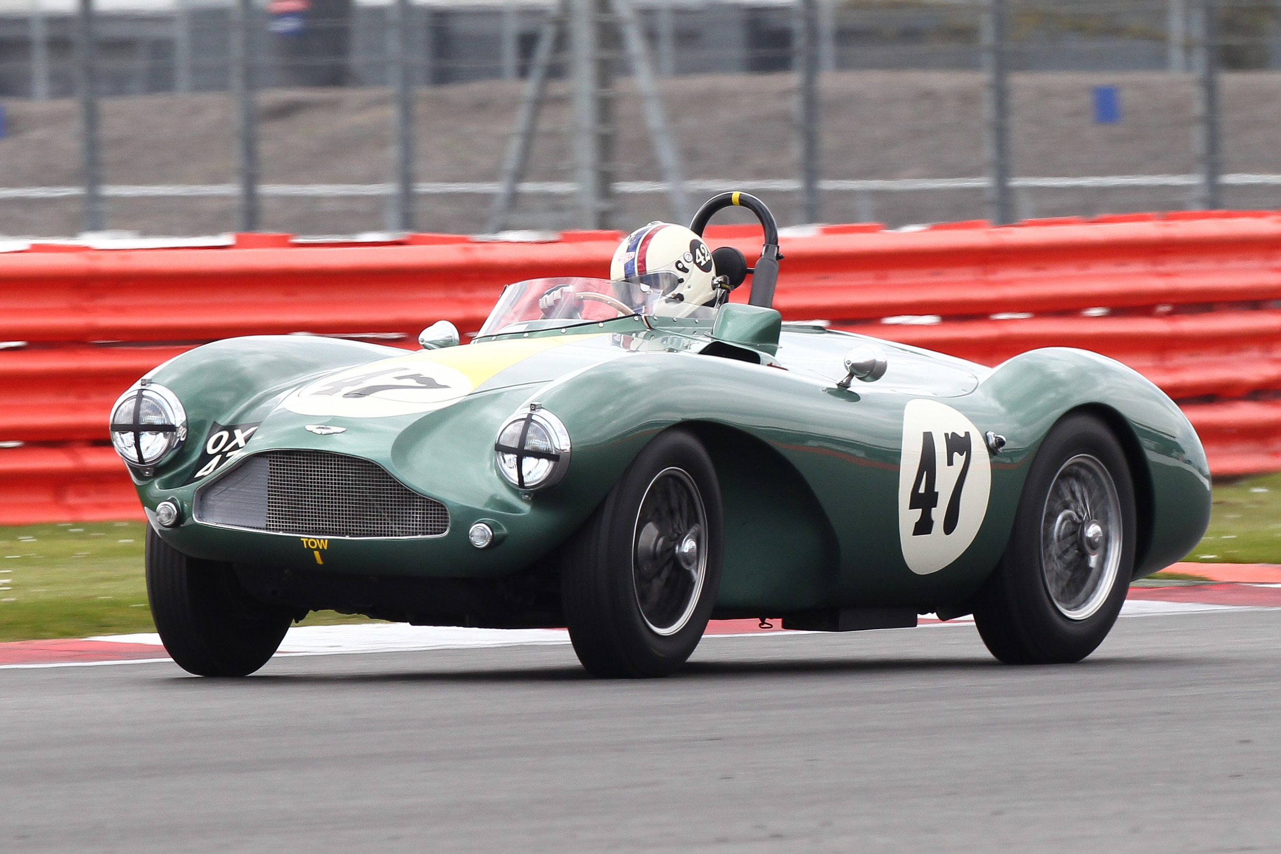 A touch of opposite lock from Steve Boultbee-Brooks in the wailing Aston DB3S  Photo - Richard Styles
