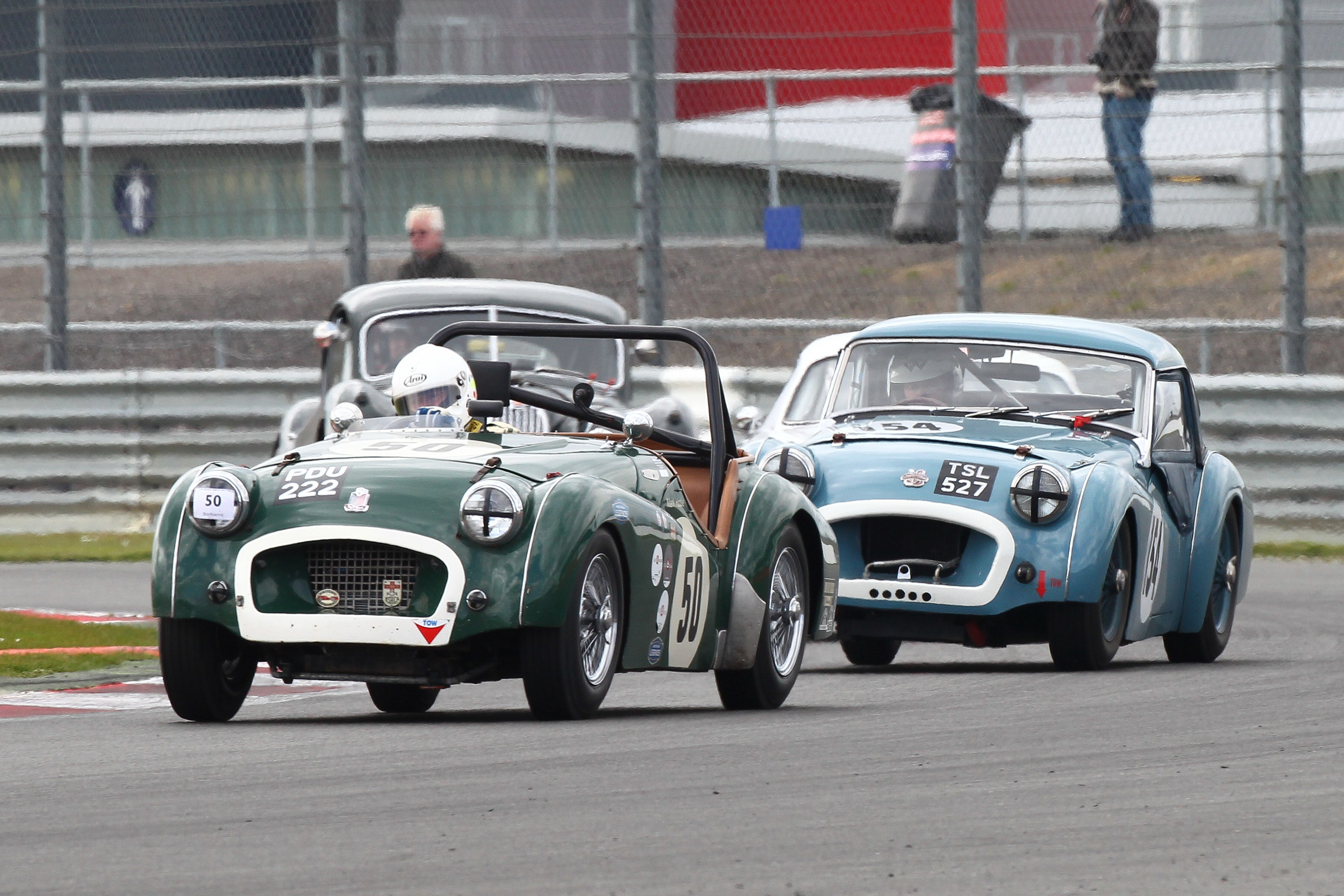 Mark Hoble and Paul Ziller, Triumph TR2s                                                          Photo - Richard styles