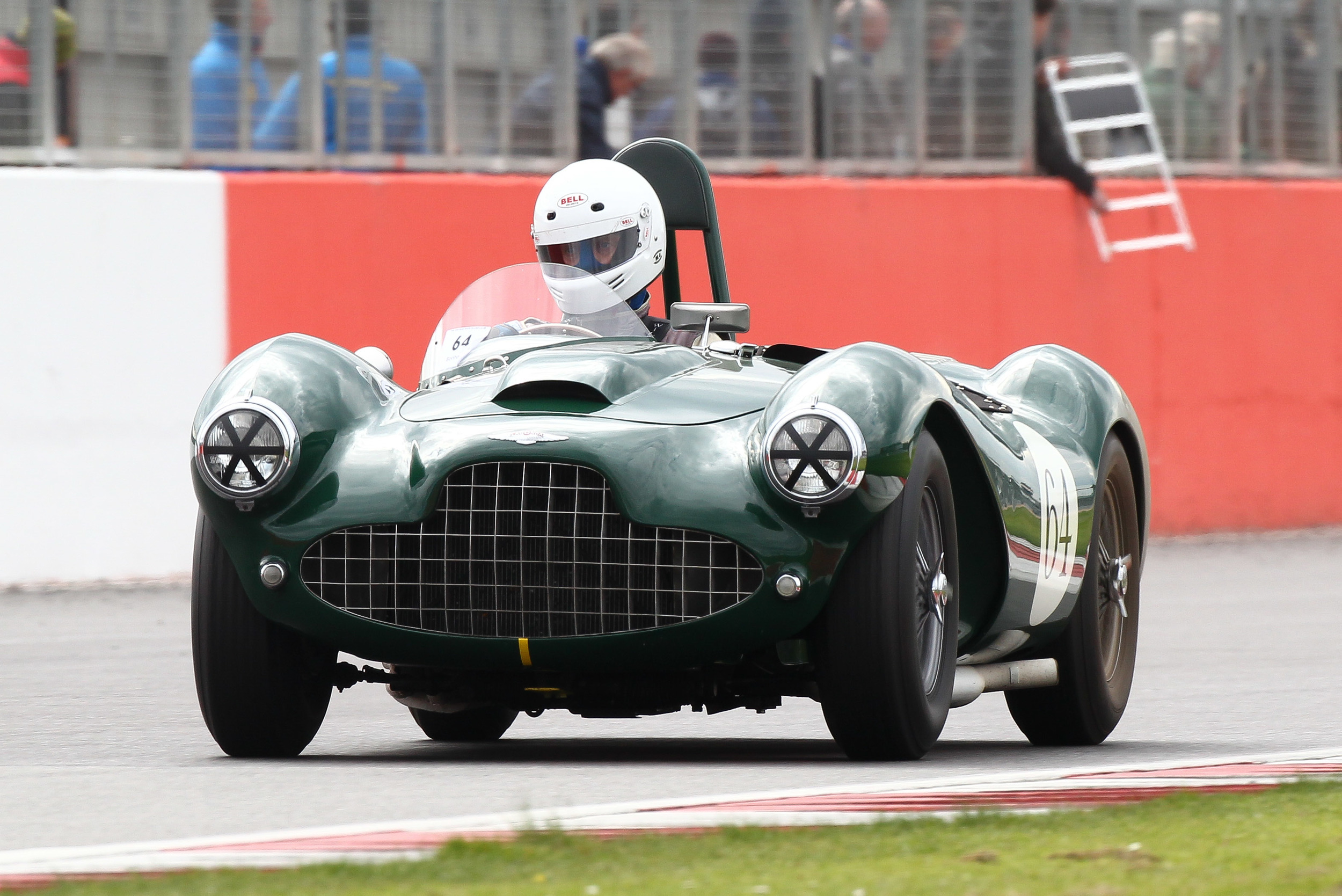 Darren McWhirter took the big Lagonda V12 to victory and thus became the first recipient of the Tom Cole Trophy  Photo - Richard Styles
