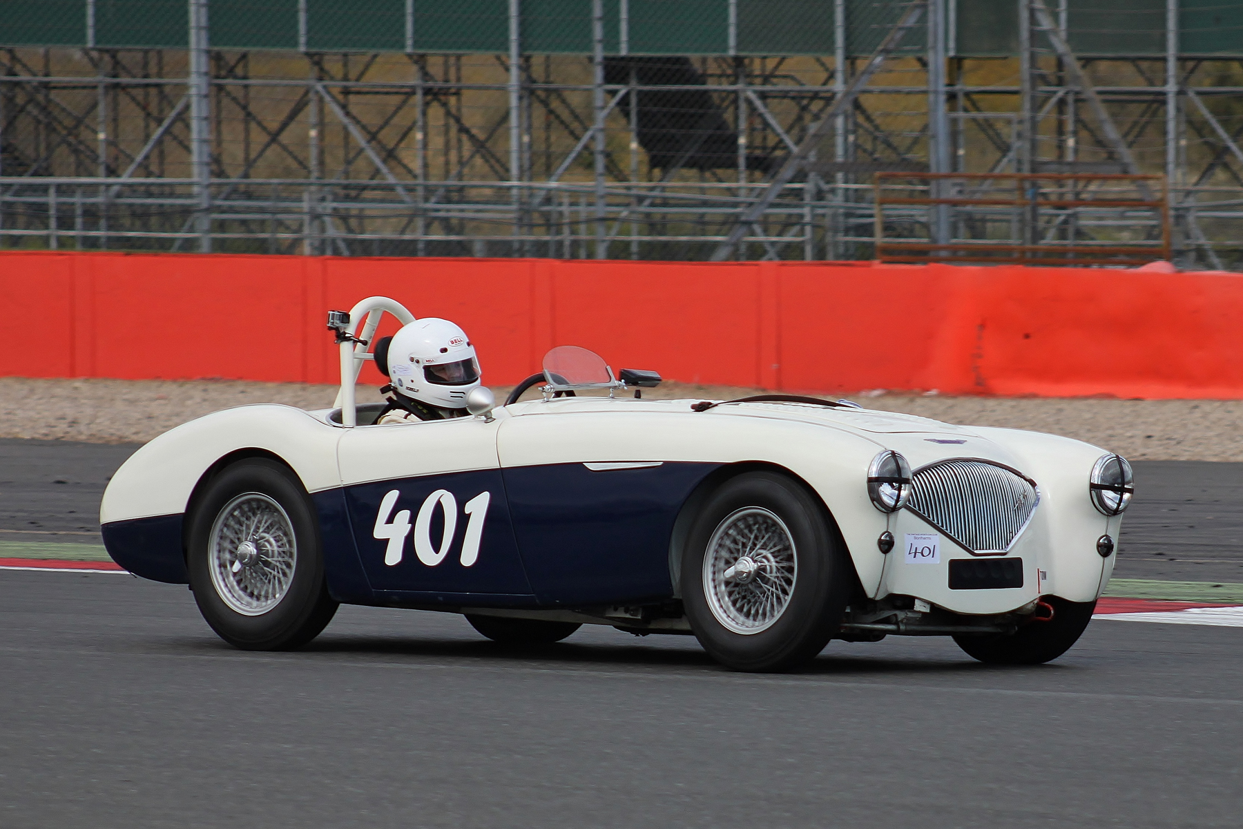 Novice, Jason Harris did a superb job both in qualifyimg and the race in his recently acquired Austin Healey 100/4        Photo - Bob Bull, Tripos Media
