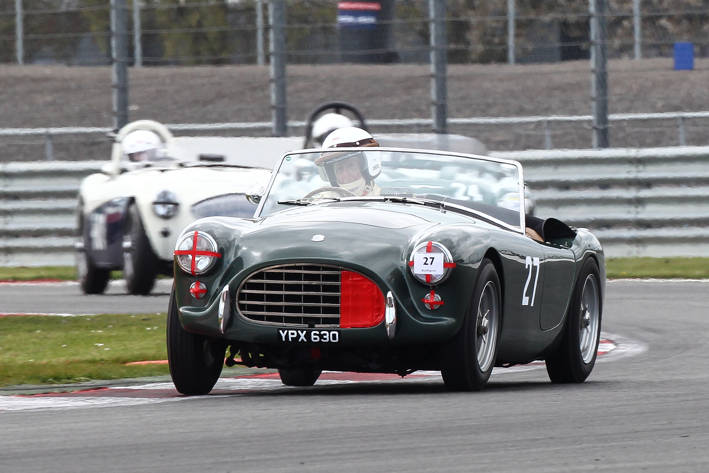 David Bennett, usually Aston Martin mounted, brought out his AC Ace with FISCAR for the first time.                       Photo - Richard Styles