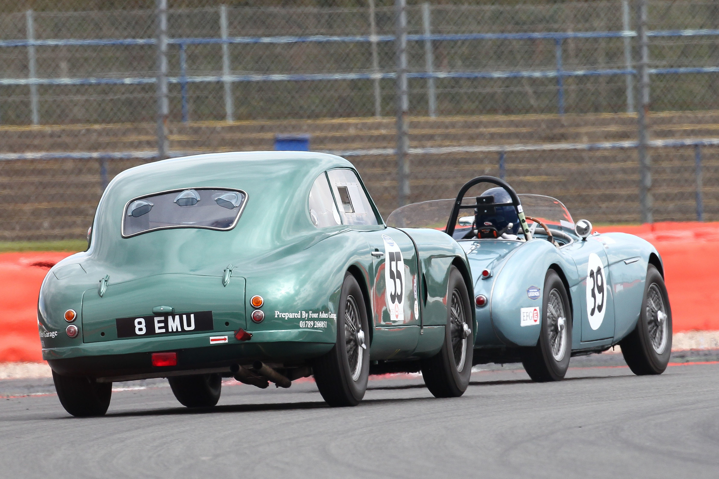 Andrew Sharp about to lap Robert Clarke in his fine drive to 4th overall in the DB2                                             Photo - Richard Styles