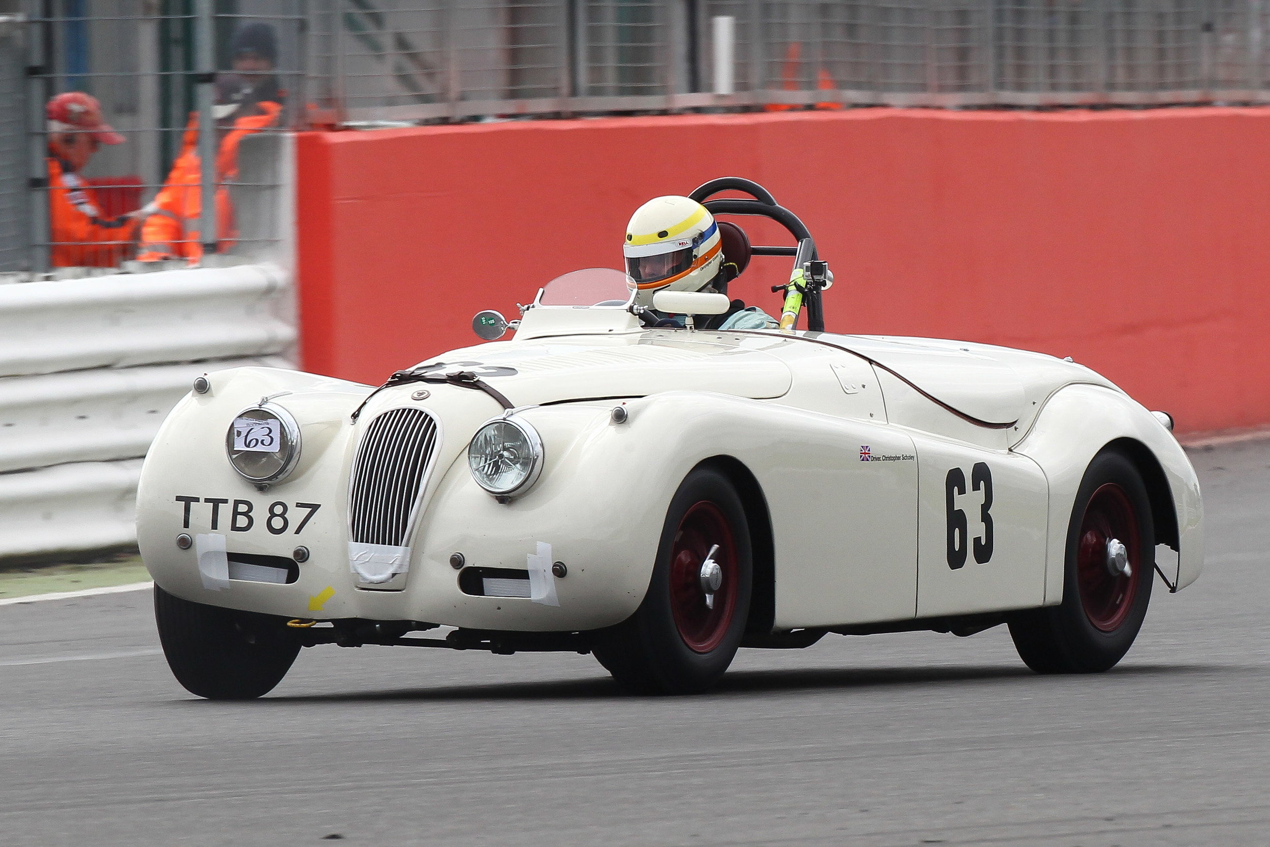 Chris Scholey in theJaguar XK 120 finished 9th                                                             Photo - Richard Styles
