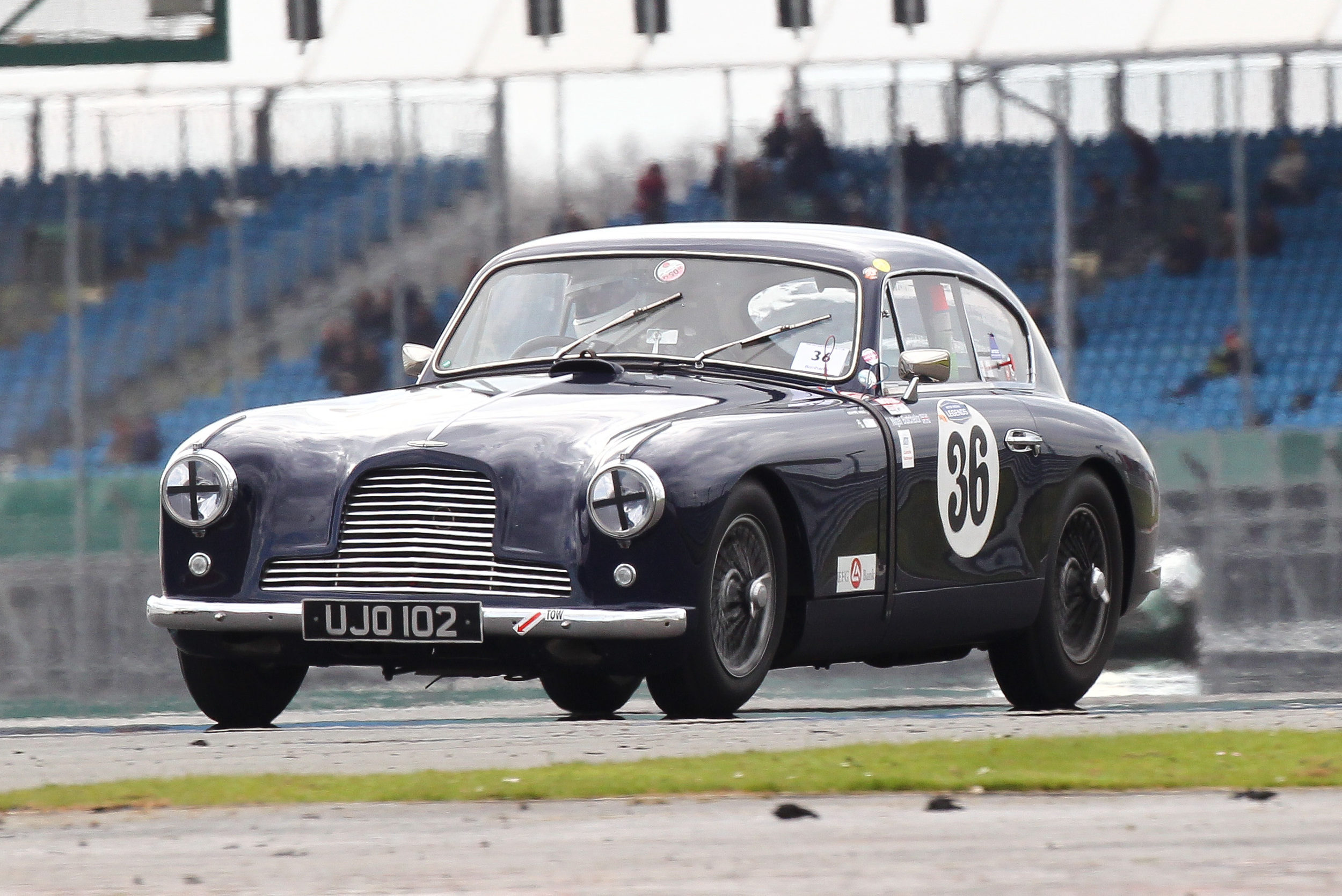 Nigel Batchelor brought his Aston Martin DB2/4 home in 15th                                        Photo - Richard Styles