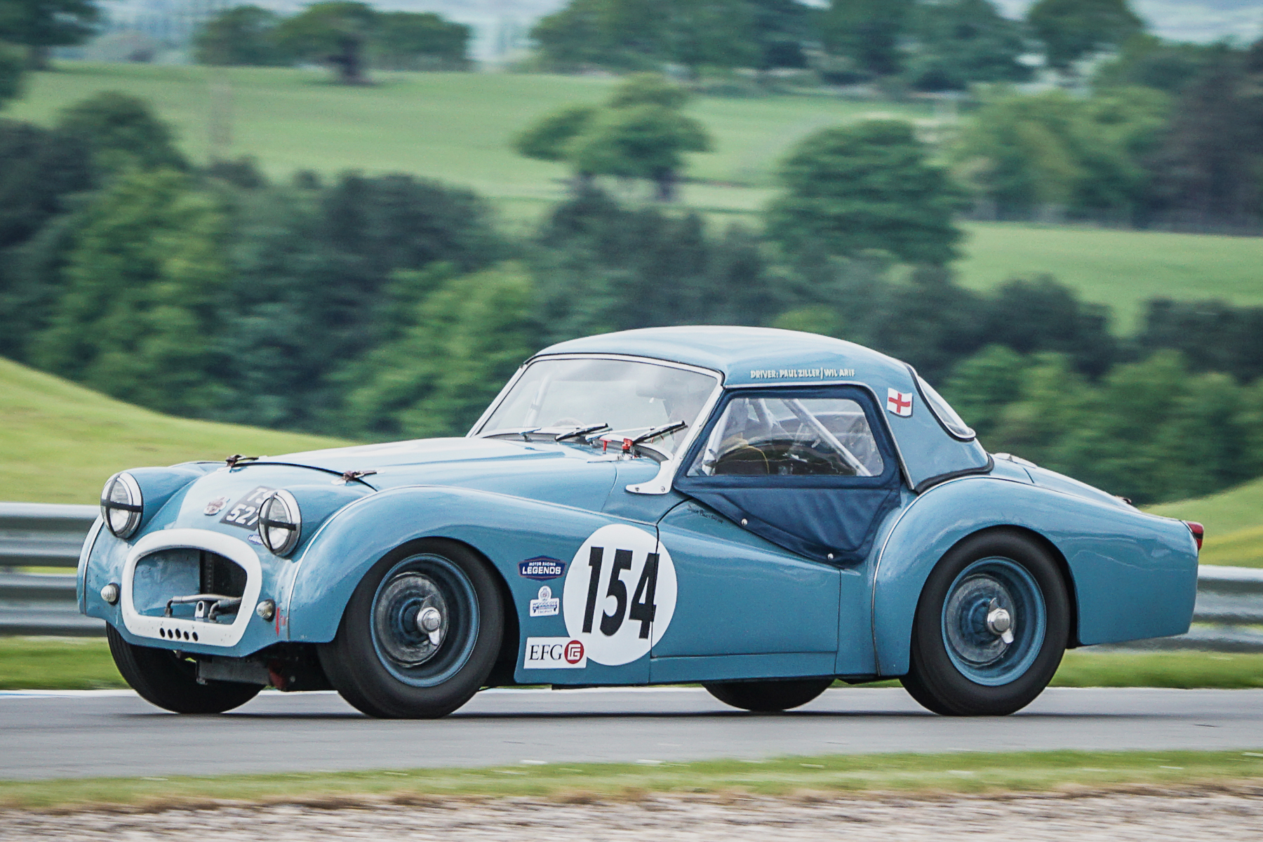 Paul Ziller in his Triumph TR2                                                                                                   Photo - Chris Dicken, Tripos Media