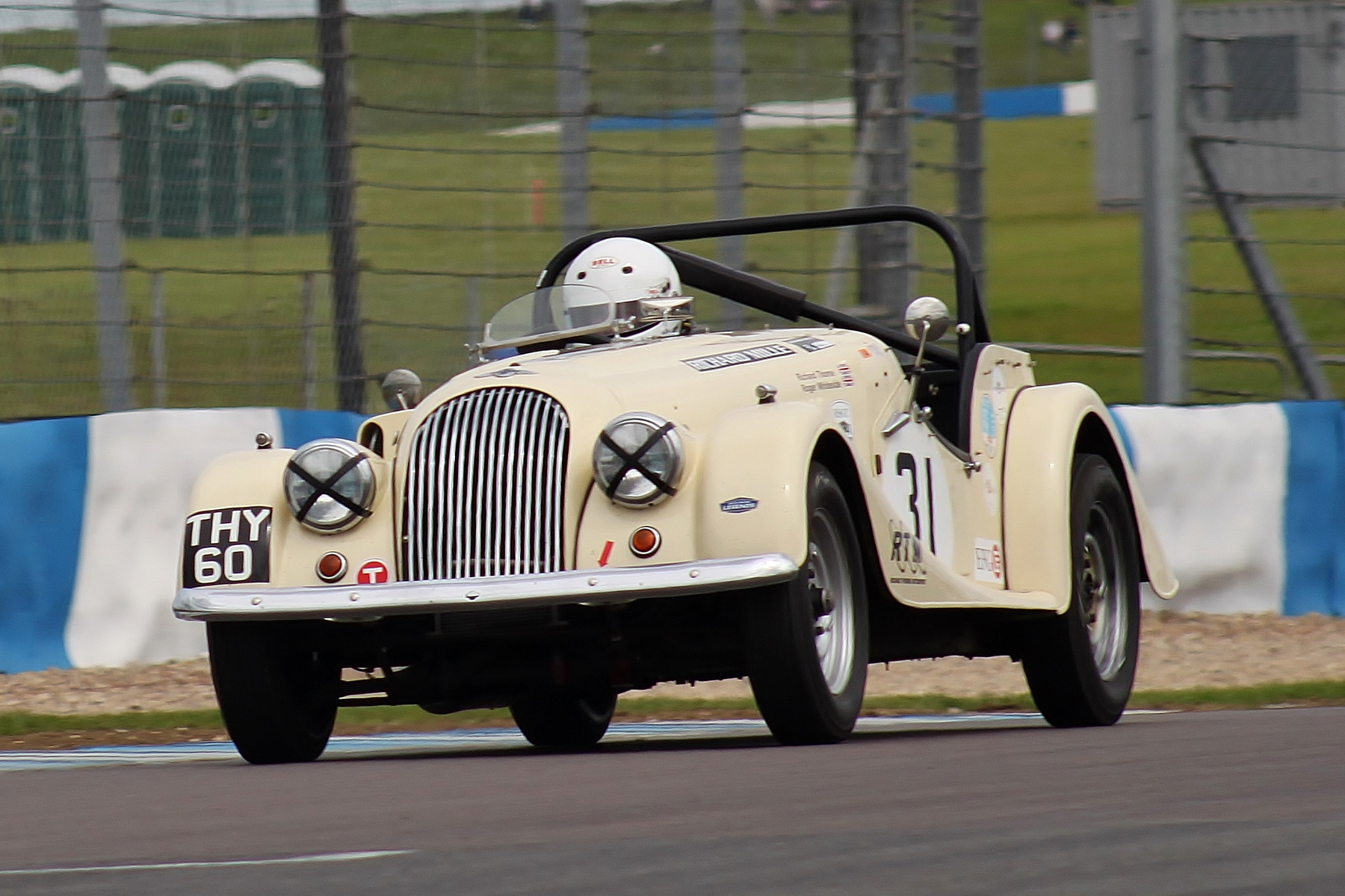 Richard Thorne demonstrates a tad of roll in the Morgan +4 on his way to 6th place                            Photo - Bob Bull, Tripos Media
