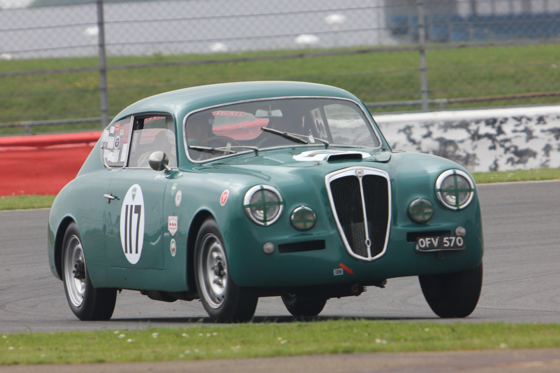 it was wonderful to see a Lancia Aurelia B20 GT out with us again. Chris Gawne had not raced with us for a couple of seasons but he professed a desire to try to do more races, so now we need Jason & Louise Kennedy to bring theirs out to make it a brace!   Photo - Pat Arculus, Tripos Media