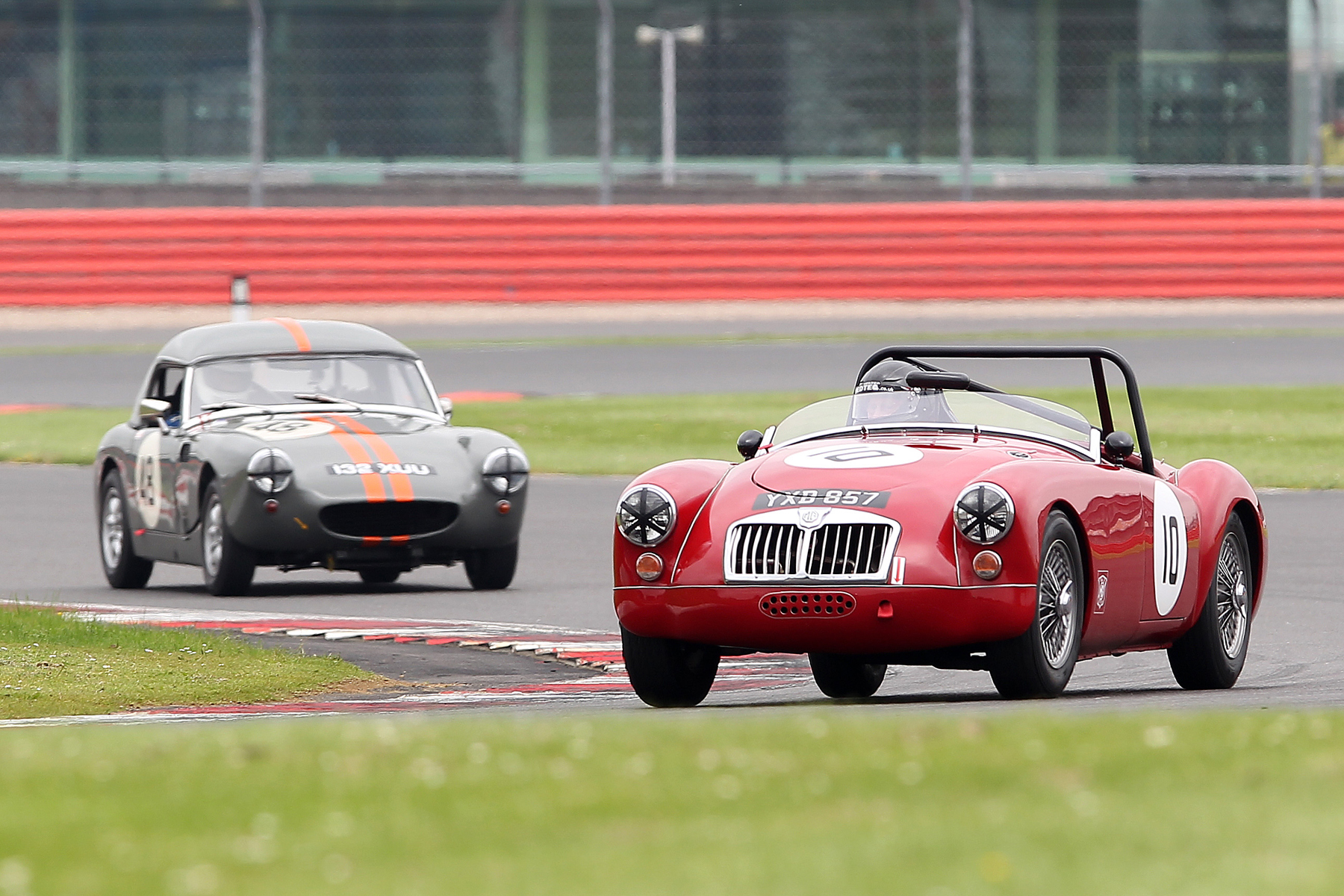 Terry Bryant's MGA roadster. Behind is Jim Mackie's Sprite mentioned in a previous caption                         Photo - Mick Walker