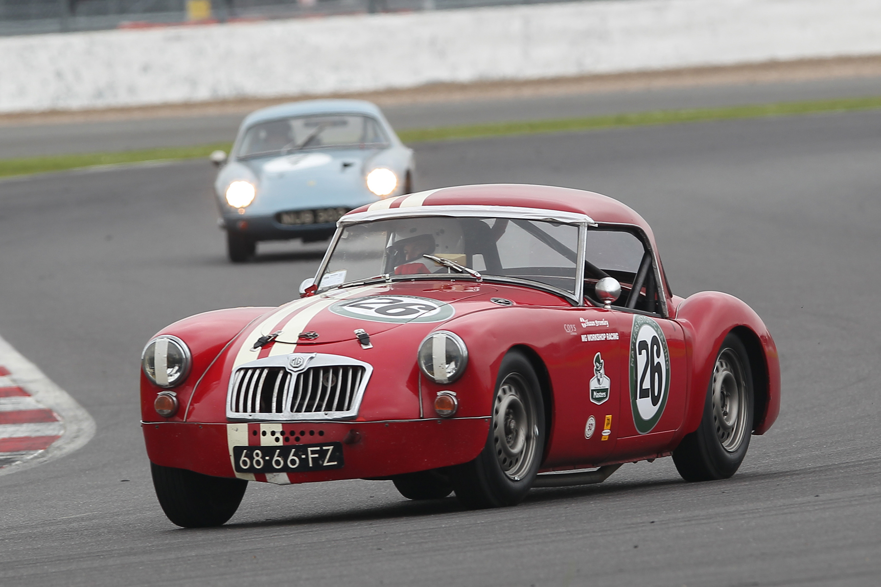 MG Team Captain, Shaun Bromley in his MGA Coupe shared with his son, Josh                              Photo - Mick Walker