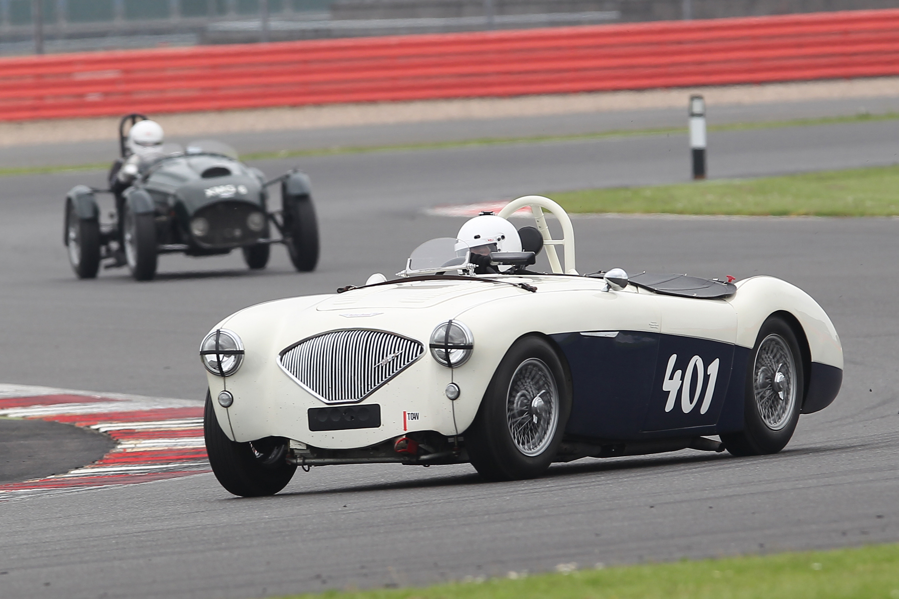 Jason Harris in the first non Elite home, but only just,  in his Austin Healey 100/4                                  Photo - Mick Walker