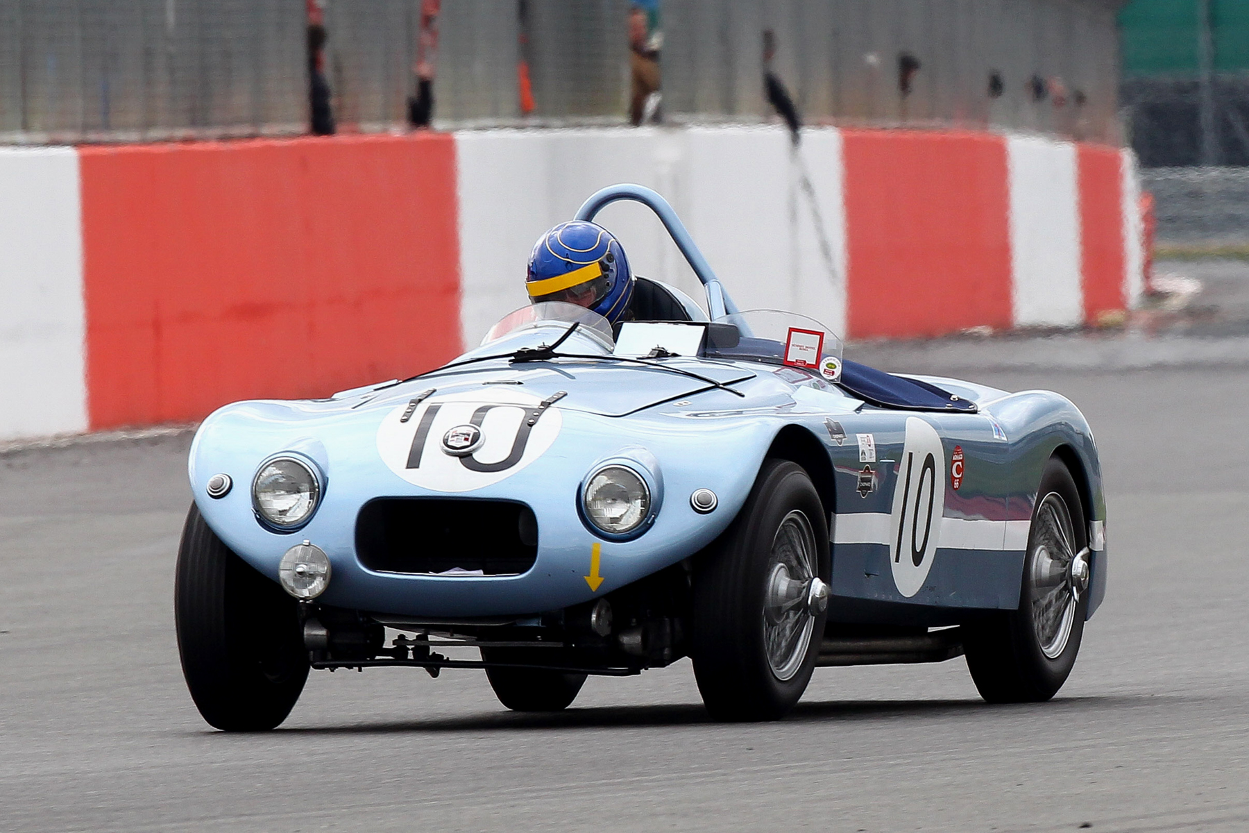 Sam Stretton had to withdraw the Nash Healey Le Mans with a blown head gasket. Photo - Richard Styles