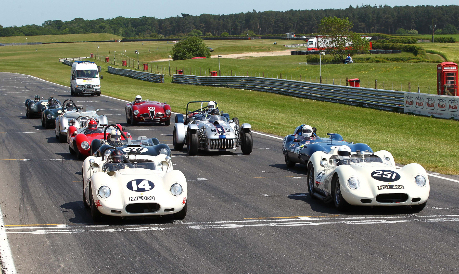 As last year, another small but select group of cars formed the grid  Photo - Richard Styles
