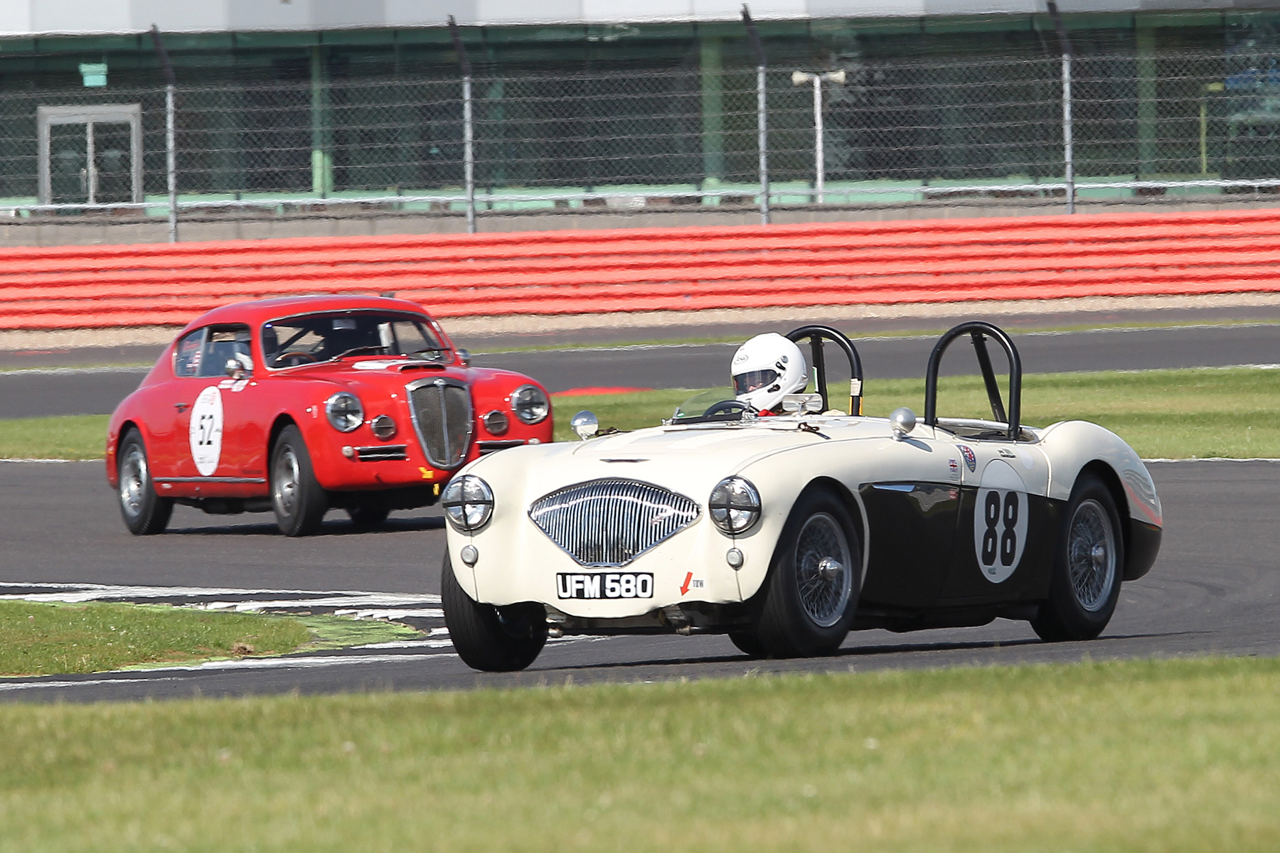 Jeremy Holden had a pretty quiet second half of the race in his Austin Healey 100/4  Photo - Mick Walker