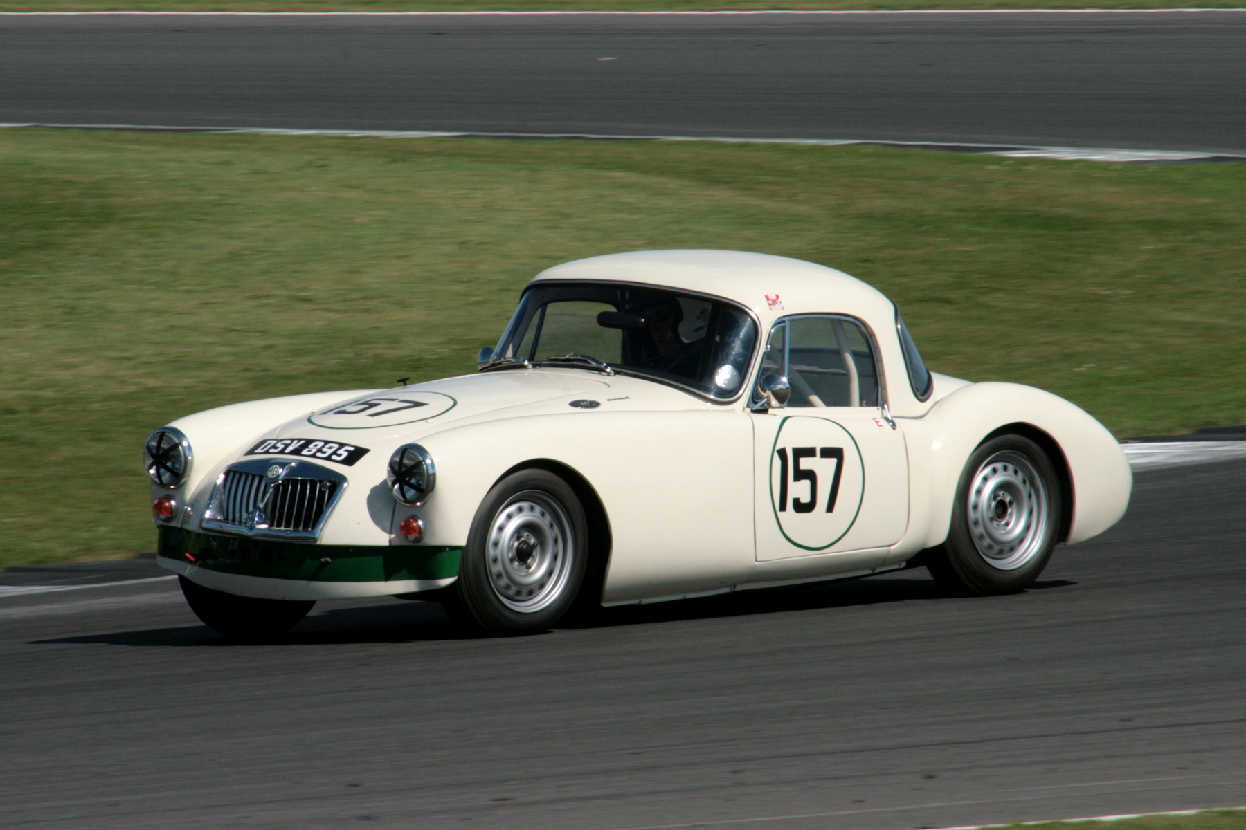 Simon Gurney in is lovely MGA. He finished 25th  Photo - John Turner