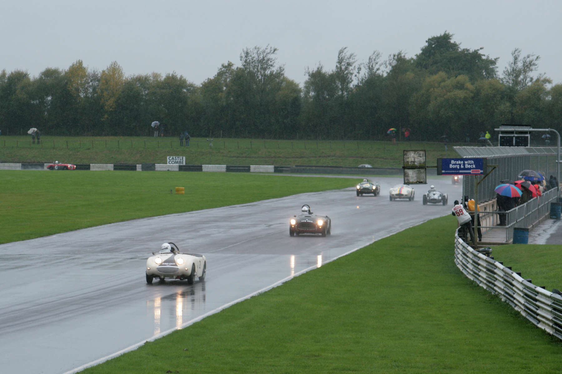 This and below give some idea of the conditions in qualifying                                                 Photos - John Turner