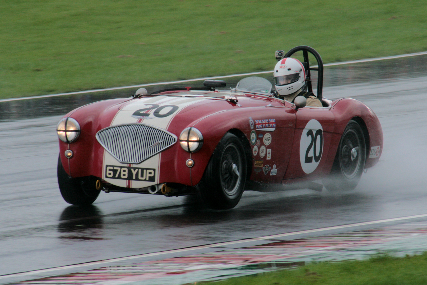 Jonathan Abecassis presses on in his Austin Healey 100/4, at this stage lying 5th.                            Photo - John Turner